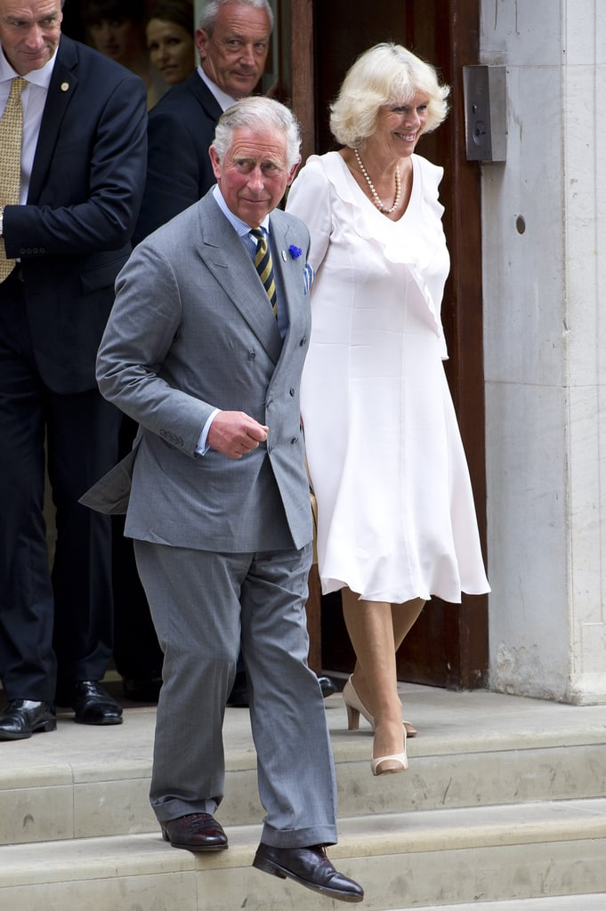Prince Charles and Camilla left the Lindo Wing looking very happy after visiting their new grandson, Prince George, for the first time.