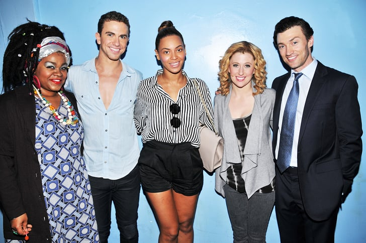 Beyoncé Knowles posed backstage with the Broadway cast of Ghost.