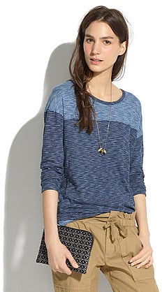 Not exactly authentic denim, but this Madewell striped indigo ink tee ($48) is a clever take on blue jeans.