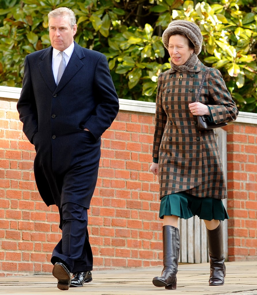 Prince Andrew and Princess Anne at Easter Sunday Service at Windsor Castle in 2010