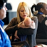Claire Danes held Cyrus Dancy at the airport.
