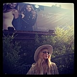 Rachel Zoe posed in front of her own billboard. Source: Instagram user rachelzoe