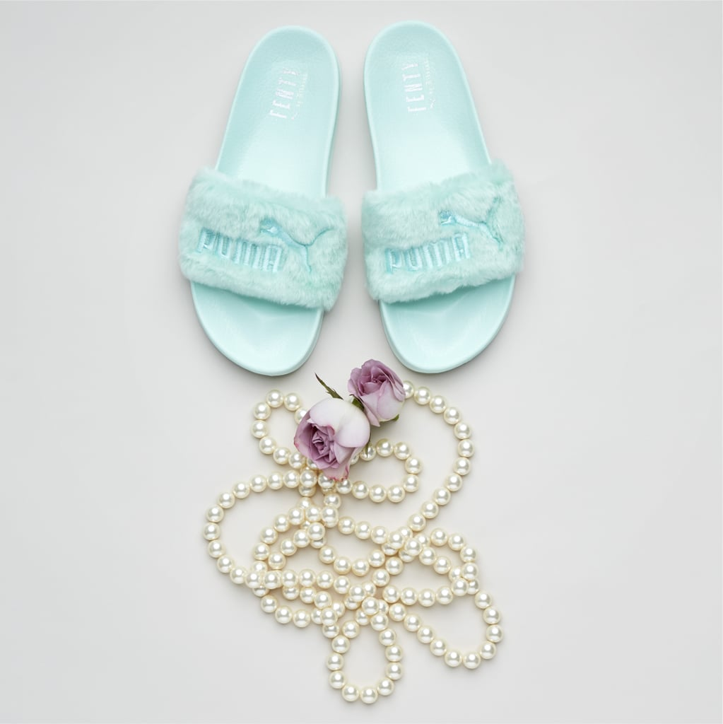 Fur Women's Slide Sandals in Bay ($90)