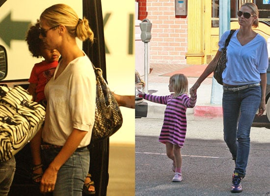 Photos of Heidi Klum Leaving a Medical Center With Leni Klum, Henry Samuel, and Johan Samuel