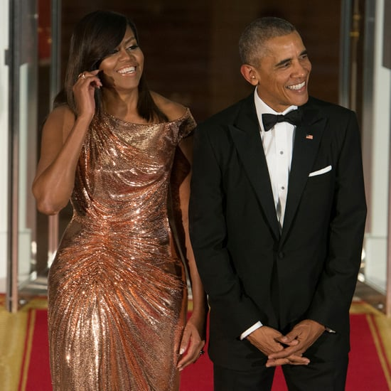 Barack and Michelle Obama at First and Last State Dinners