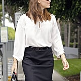 Jennifer Garner took a business meeting in Santa Monica.