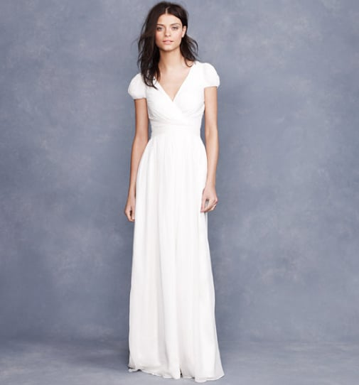 """I have this thing with my arms, in that I like to cover the biggest part of them (you can guess why). This gown has the magic cap sleeve to make my arms look gorgeous, and the simple, timelessly pretty silhouette is ideal for my vision of a casual outdoor wedding. Plus, it's $625, which is a bargain in the wedding world."" — Noria Morales, style director J.Crew Mirabella Gown ($625)"
