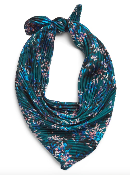 Floral Micro-Pleat Scarf