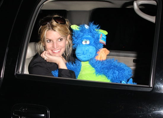 Jessica Simpson Brings Her Blue Dragon to LA
