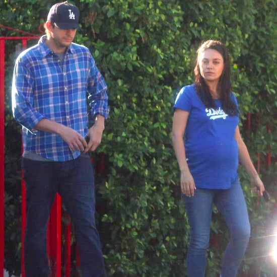 Mila Kunis and Ashton Kutcher Walking in LA October 2016