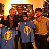 Nikki Reed and Paul McDonald showed off a pair of t-shirts. Source: Nikki Reed on WhoSay