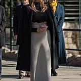 Melania's Black Coat, November 2017