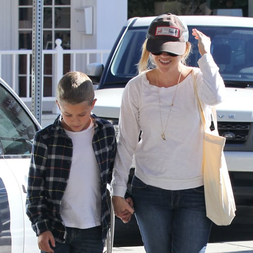 Reese Witherspoon With Deacon in Brentwood | Pictures