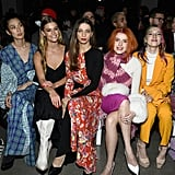 Myles O'Neal, Tao Okamoto, Nina Agdal, Angela Sarafyan, Bella Thorne, and Dani Thorne at Prabal Gurung Fall 2019
