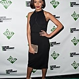 Selita Ebanks slipped into a sleek LBD for the annual Good Awards.