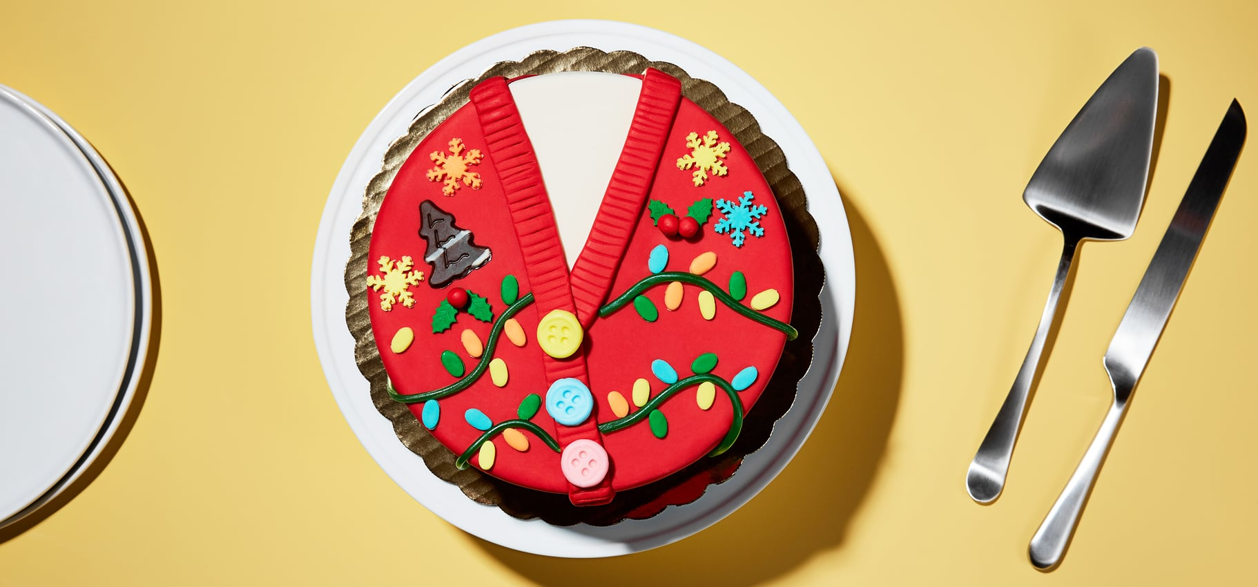 How to Make An Ugly Sweater Ice Cream Cake | POPSUGAR Food