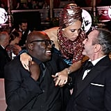 Edward Enninful, Adwoa Aboah, and John Galliano