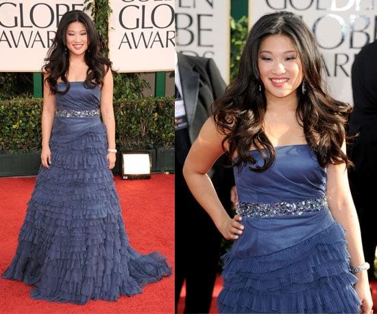 Jenna Ushkowitz at 2011 Golden Globe Awards