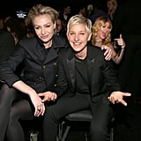 Ellen and Portia cuddled (and got photobombed by Kelly Clarkson) at the 2013 Grammy Awards in February 2013.