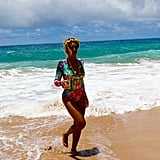 Beyoncé soaked up the sun while vacationing in Hawaii with Jay Z in June 2016.