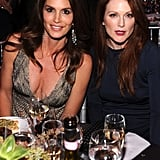 Cindy Crawford and Julianne Moore