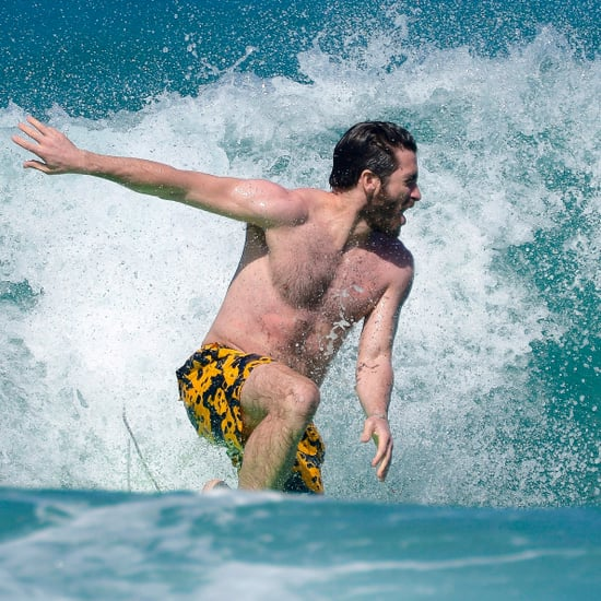 Jake Gyllenhaal Surfing in St. Barts December 2016