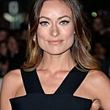Two-toned hair and a sexy cat eye looked gorgeous on Olivia Wilde at the Rush premiere.