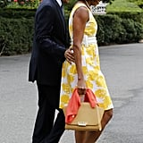 President Obama stuck close to Michelle during their Saturday travels.