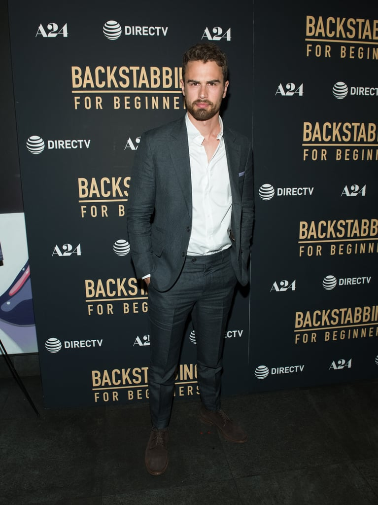 Theo James at Backstabbing For Beginners NYC Premiere 2018