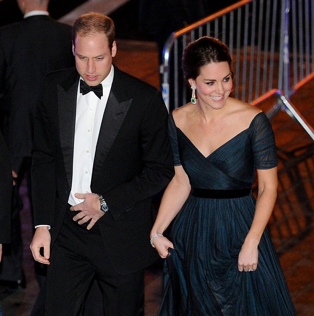 Kate Middleton Pregnant Wearing Jenny Packham Dress at Met