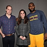 """Even LeBron James, at 6'8"""", doesn't totally tower over Kate."""