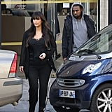 Kim Kardashian and Kanye West in Paris | Pictures