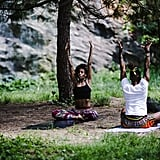 Do yoga together in the park.