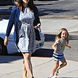 Jennifer Garner Has a Ladies' Lunch With Little Seraphina and Violet