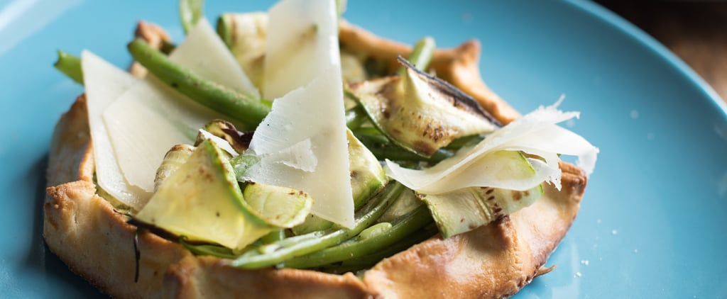 Green Vegetables & Ricotta Tart With Parmesan Crust