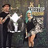 No photo booth is complete without giant cardboard cutouts of cats!