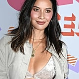 Olivia Munn Velvet Bra on the Red Carpet