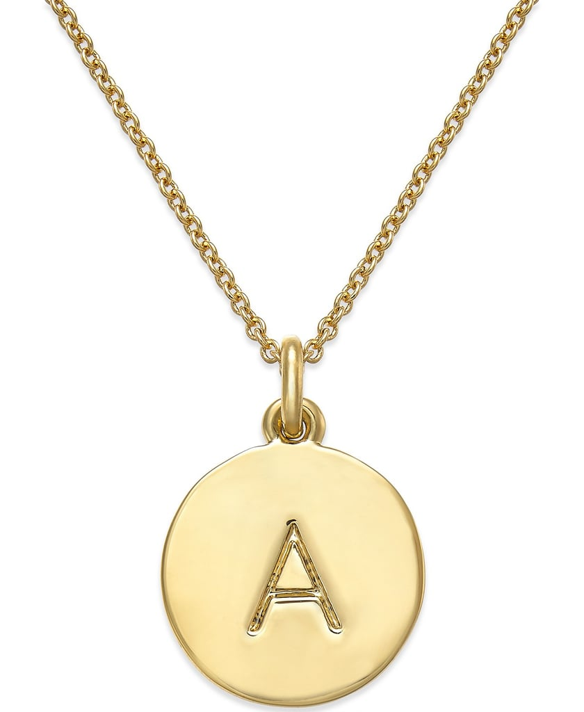 Kate Spade New York 12k Gold-Plated Initials Pendant Necklace