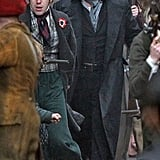 Russell Crowe as Inspector Javert on the set of Les Misérables.