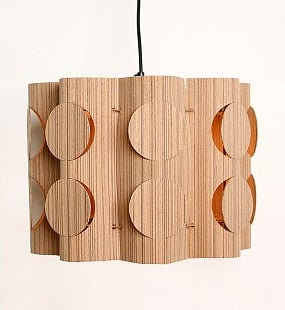 For mid-century modern fans, the Teak Wood Hanging Pendant ($78) is eye-catching and made from sustainably-harvested teak wood veneer.