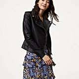 LOFT Faux Leather Motorcycle Jacket
