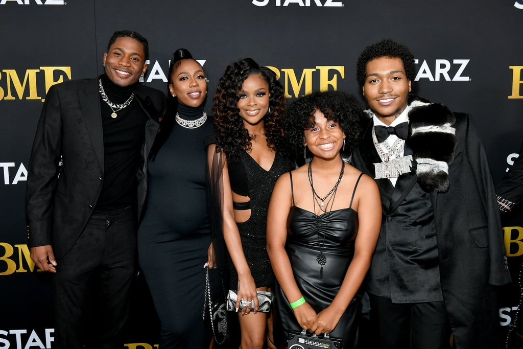 """BMF is the latest show to come from Curtis """"50 Cent"""" Jackson, and just like his Power franchise, it's freakin' good! Based on the real-life story of Detroit brothers Demetrius """"Big Meech"""" and Terry """"Southwest T"""" Flenory, the Starz series boasts a stacked cast that includes Demetrius """"Lil Meech"""" Flenory Jr., Da'Vinchi, Myles Truitt, and Ajiona Alexus. While the crew's relationships may be complicated — and sometimes deadly — on the show, off screen, they appear to be one big family. Luckily, BMF has already been renewed for a second season, so we'll get to see even more of their chemistry in the episodes to come, but in the meantime, take a look at some of the cast's best moments together ahead."""