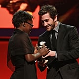 Congolese actress Rachel Mwanza received the Silver Bear for best actress in the film War Witch by jury member Jake Gyllenhaal.