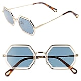 Chloé Tally 53mm Octagon Sunglasses