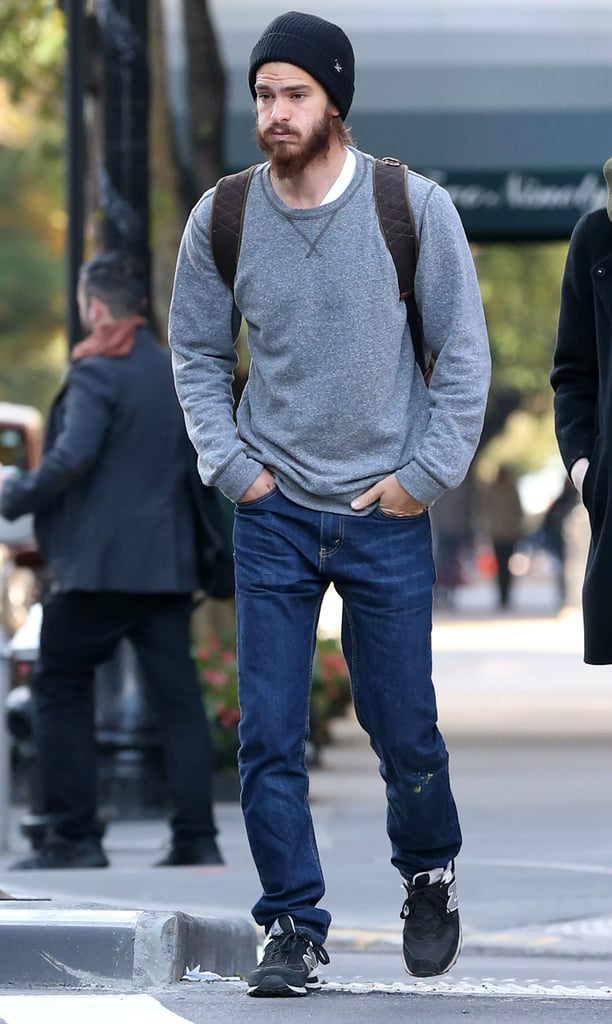 Andrew Garfield walked the streets of NYC on Tuesday.