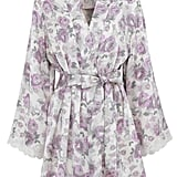 French Designed Rose Lace With Silk Printed Kimono (£65)