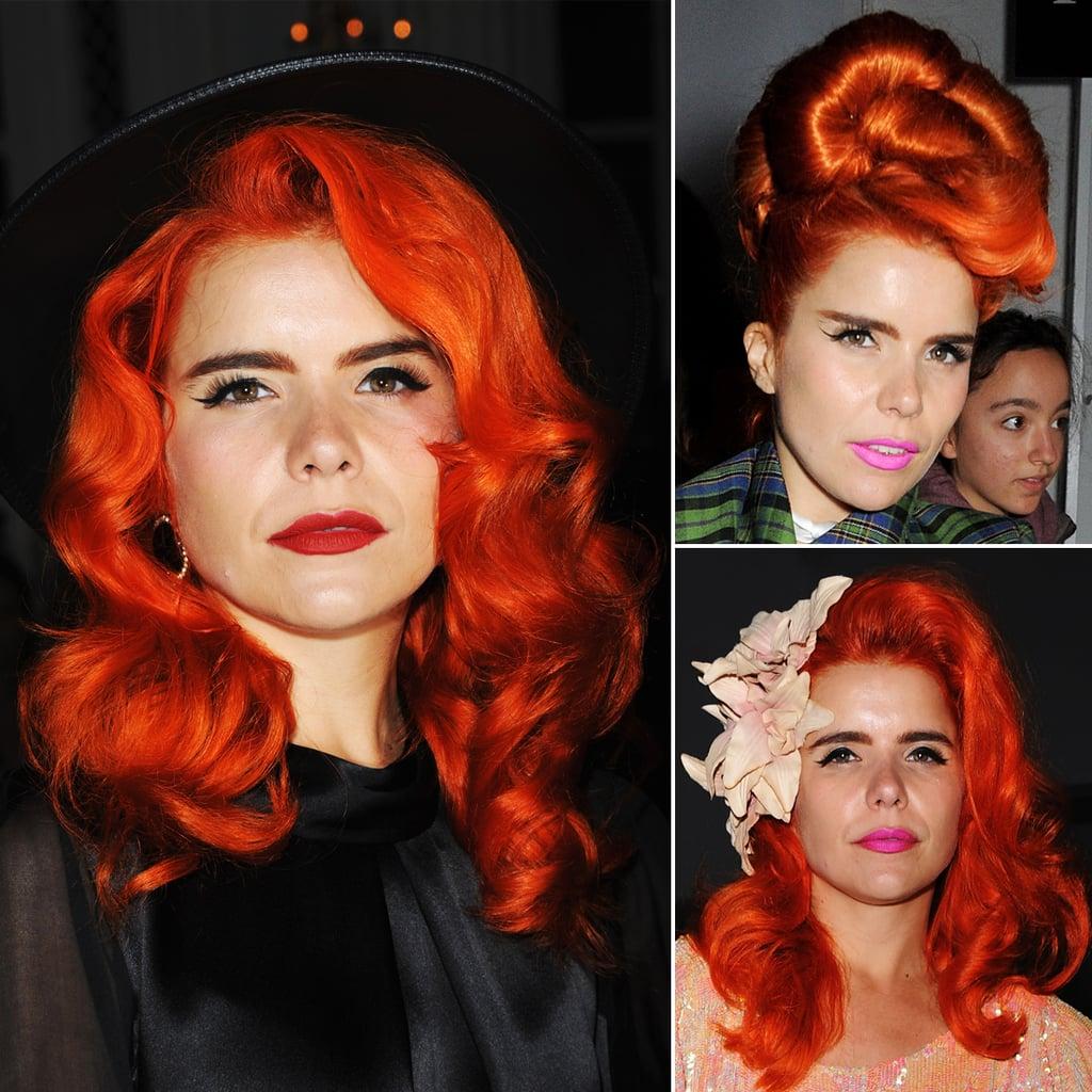 Paloma Faith Hair at London Fashion Week Spring 2014
