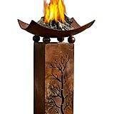 Rustic Metal Fire Pillar