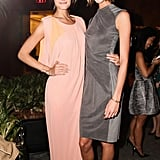 Constance Jablonski and Karlie Kloss made a model pair at the WSJ Magazine fete.