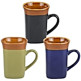 Square Two-Tone Flared-Rim Stoneware Mug ($1 each)